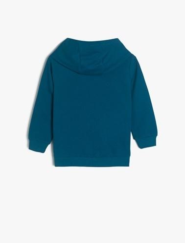 Koton Kids Yazili Baskili Sweatshirt Yeşil